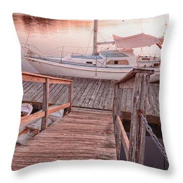 Warwick Marina Park Throw Pillow by Lourry Legarde