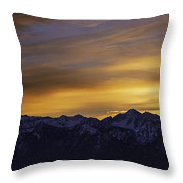 Wasatch Dawn Throw Pillow