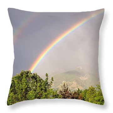 Wasatch Rainbow Throw Pillow