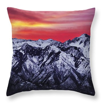 Wasatch Sunrise 3x1 Throw Pillow by Chad Dutson