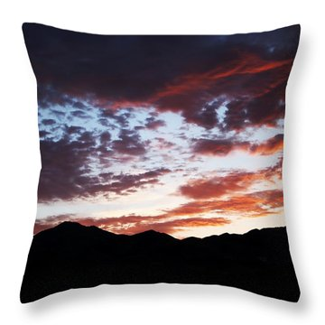 Wasatch Sunrise Throw Pillow by Rona Black