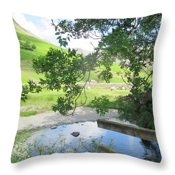 Wasdale Head Stile Throw Pillow by Kathy Spall