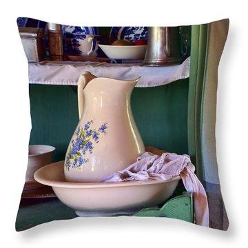 Wash Basin Still Life Throw Pillow by Nikolyn McDonald