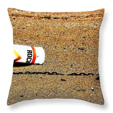 Washed A Shore Throw Pillow by Judy Palkimas