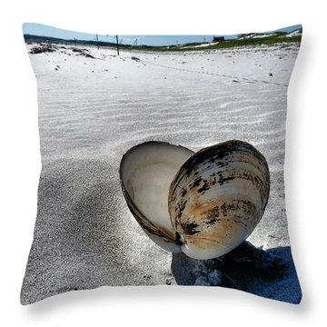 Throw Pillow featuring the photograph Washed Ashore by Janice Drew