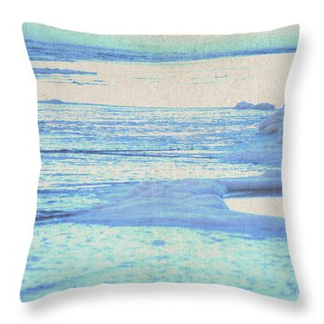 Washed Away Throw Pillow by Cynthia Lagoudakis