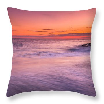 Washing Over The Rocks Throw Pillow