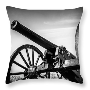 Washington Artillery Park Cannon In New Orleans Throw Pillow by Paul Velgos