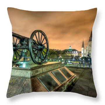 Washington Artillery Park Throw Pillow
