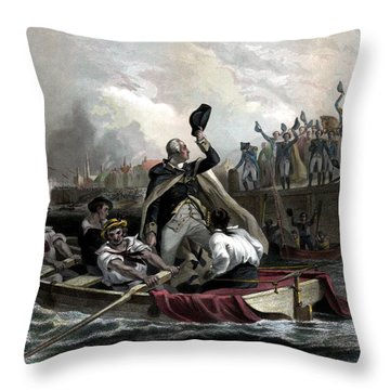 Washington Bids Adieu To His Generals  Throw Pillow by War Is Hell Store