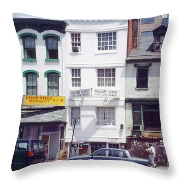 Washington Chinatown In The 1980s Throw Pillow