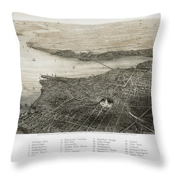 Washington, D.c., 1862 Throw Pillow by Granger