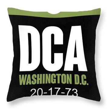 Washington D.c. Airport Poster 2 Throw Pillow by Naxart Studio