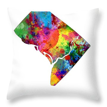 District Of Columbia Throw Pillows
