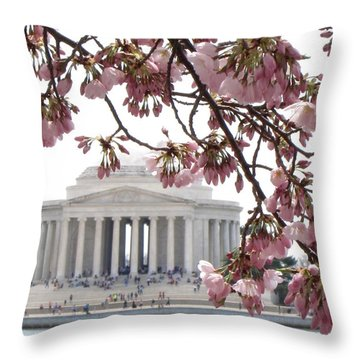 Washington Dc In Bloom Throw Pillow