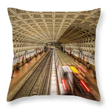 Washington Dc Metro Station Xi Throw Pillow