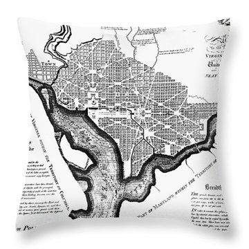 Washington, D.c. Plan, 1792 Throw Pillow by Granger
