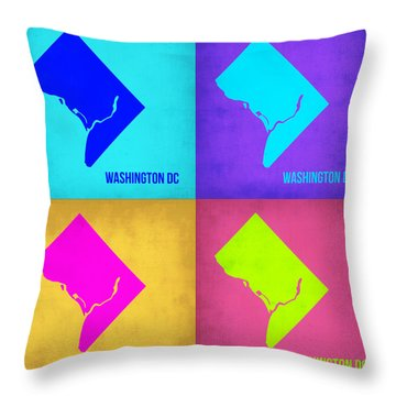 Washington Dc Pop Art Map 1 Throw Pillow