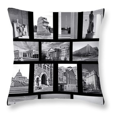 Washington Dc Poster Throw Pillow by Olivier Le Queinec