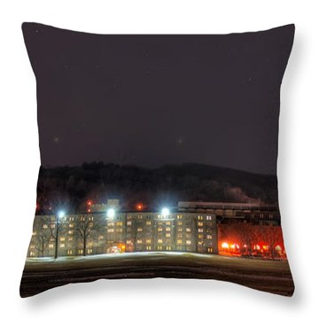 Washington Hall At Night Throw Pillow