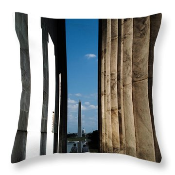 Washington Monument Color Throw Pillow