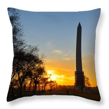 Washington Monument Under Repair Throw Pillow