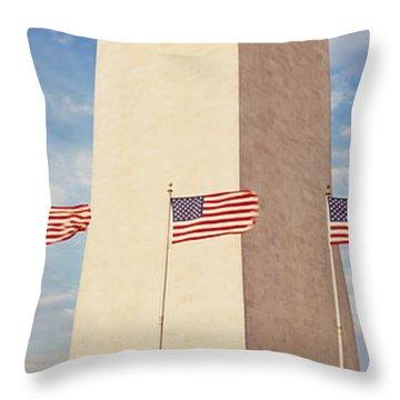 Washington Monument Washington Dc Usa Throw Pillow by Panoramic Images