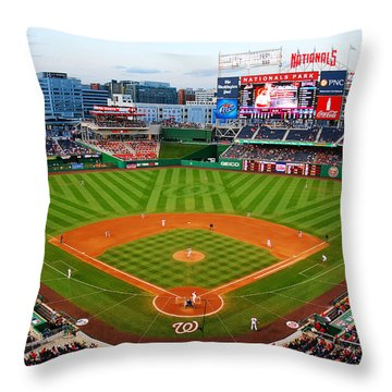 Washington Nationals Park Throw Pillow