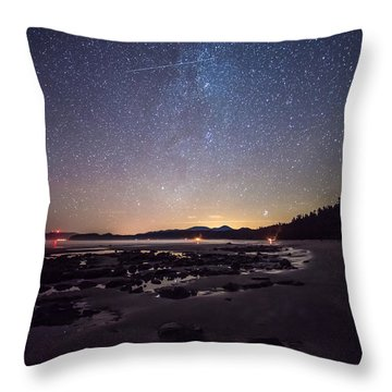 Washington Olympic Night Sky Meteor Throw Pillow