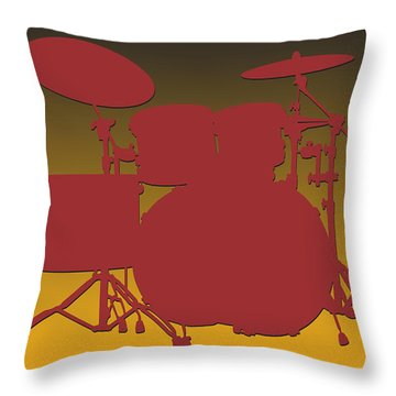 Washington Redskins Drum Set Throw Pillow by Joe Hamilton