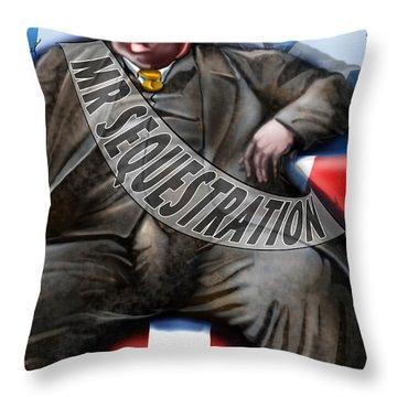Washington Sitting Down On The Job Throw Pillow by Reggie Duffie