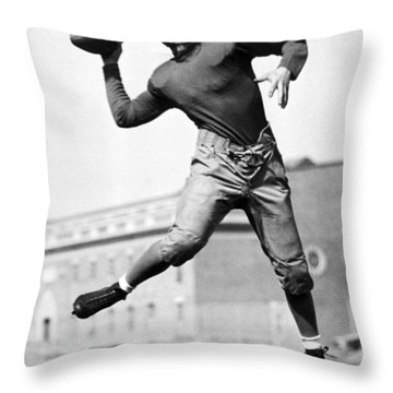 Washington State Quarterback Throw Pillow by Underwood Archives