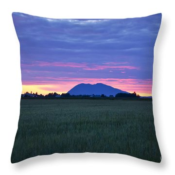 Washington Sunset On The Mountain Throw Pillow
