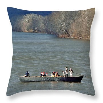 Throw Pillow featuring the photograph Washington's Crossing 2014 1 by Steven Richman