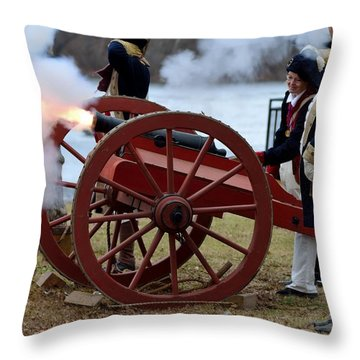Throw Pillow featuring the photograph Washington's Crossing 2014 3 by Steven Richman