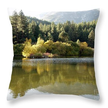 Throw Pillow featuring the photograph Washoe Valley by Carol Sweetwood