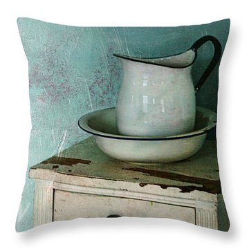 Washstand Still Life Throw Pillow