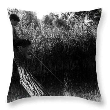 Wasting Time Is Never A Waste Of Time Throw Pillow