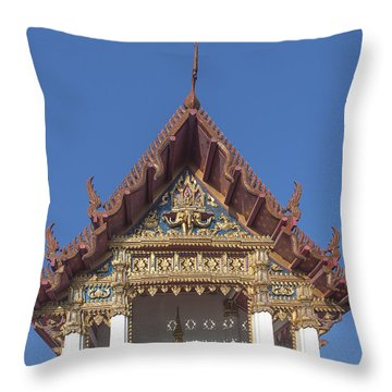 Wat Amarintaram Ubosot Gable Dthb1509 Throw Pillow