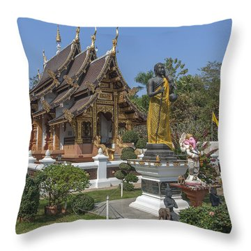 Wat Chedi Liem Phra Ubosot Dthcm0831 Throw Pillow