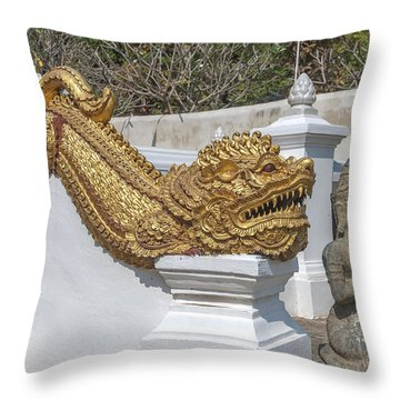 Wat Chedi Liem Phra Ubosot Gate Makara Dthcm0836 Throw Pillow
