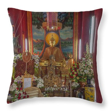 Wat Chedi Liem Phra Wihan Buddha Image Dthcm0827 Throw Pillow