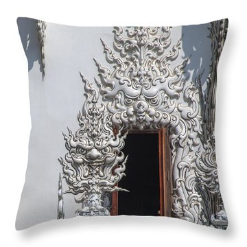 Wat Rong Khun Ubosot Window Dthcr0042 Throw Pillow