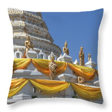 Wat Songtham Phra Chedi Buddha Images Dthb1916 Throw Pillow