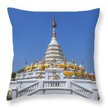 Wat Songtham Phra Chedi Dthb1915 Throw Pillow