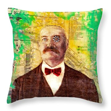 Throw Pillow featuring the painting Watch Carefully by Desiree Paquette