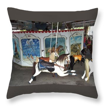 Throw Pillow featuring the photograph Watch Hill Merry Go Round by Barbara McDevitt