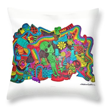 Watch Out Throw Pillow by Chelsea Geldean