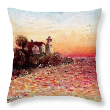 Watch Over Me Throw Pillow by Shana Rowe Jackson