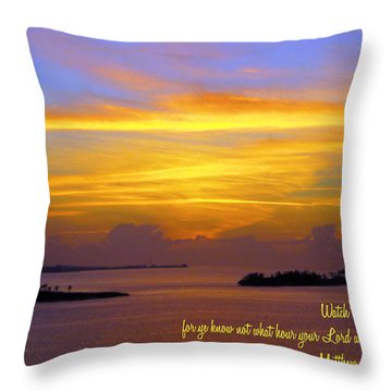 Watch Therefore Throw Pillow by Bill Barber